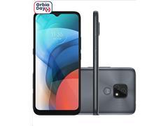 """Smartphone Motorola Moto E7 64GB Duos Tela 6.5"""" 4G Câm 48+2MP Cinza"""