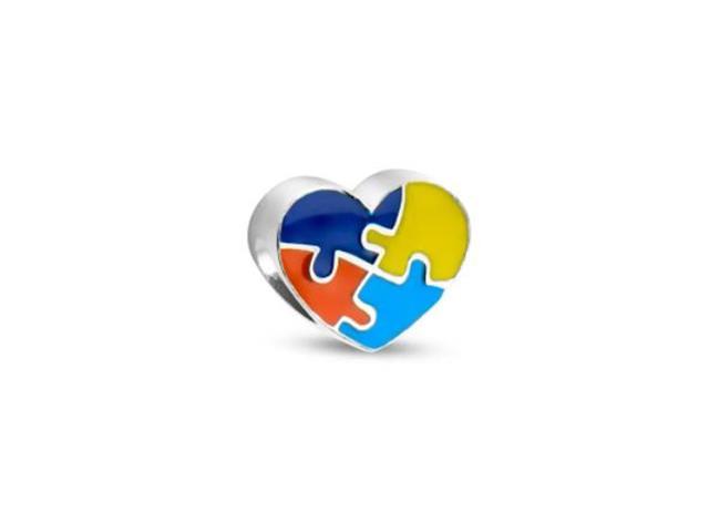 Berloque Vivara Símbolo Autismo em Coração