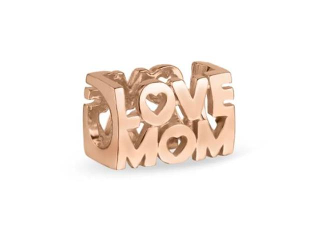 Berloque Vivara Love Mom com Banho Ouro Rosé