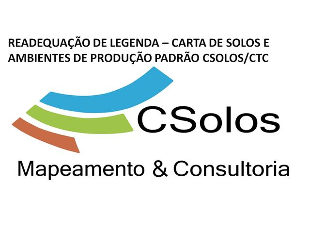 Readequação de Legenda Carta de solo para padrão Csolos/CTC