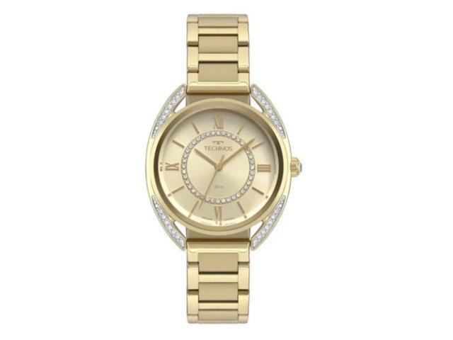 Relógio Technos Elegance Cristal Feminino Dourado 2035MRD/4X