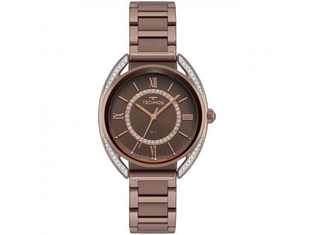 Relógio Feminino Technos Elegance Crystal Marrom 2035MRE/4M