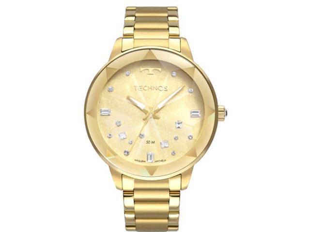 Relógio Technos Feminino com Cristais Swarovski Dourado 2039CE/4X