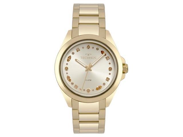 Relógio Feminino Technos EleganceGold com Cristais Swarovski 203AAA/4D