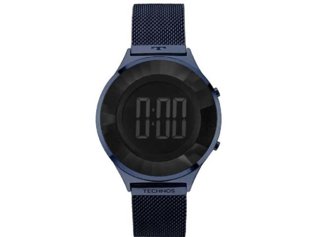 Relógio Feminino Digital Technos Crystal Azul BJ3572AC/4P