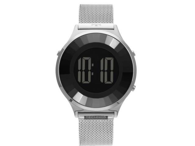 Relógio Feminino Digital Technos Crystal Prata BJ3851AG/1P