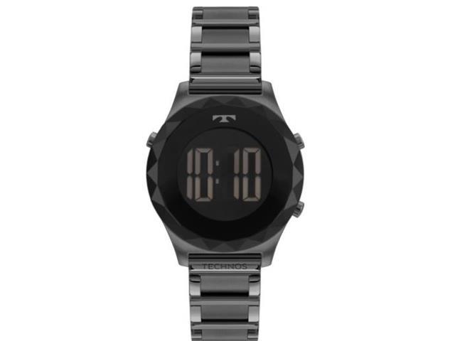 Relógio Feminino Digital Technos Crystal Grafite BJ3851AA/4P