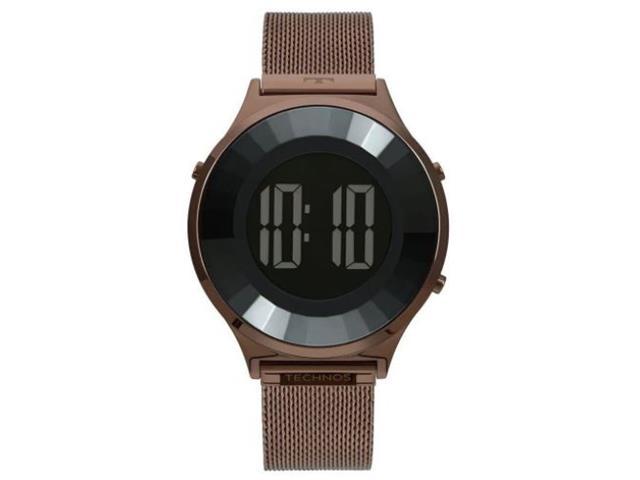 Relógio Feminino Digital Technos Crystal Marrom BJ3851AH/4P