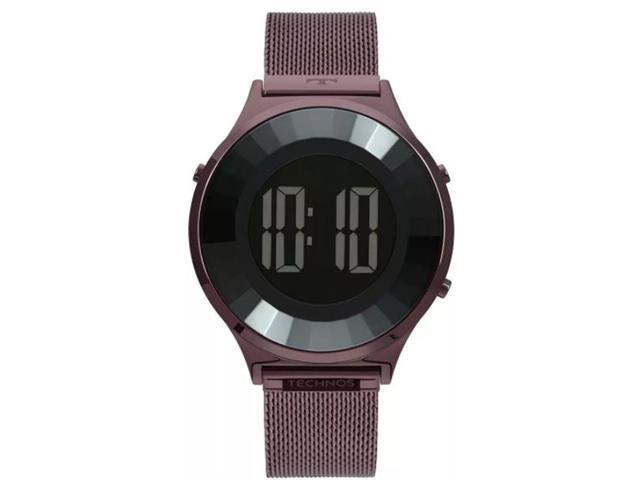 Relógio Technos Digital Feminino Elegance Crystal Vinho BJ3851AI/4P
