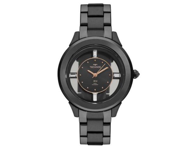 Relógio Technos Elegance Preto com Cristais Swarovski  F03101AC/4P