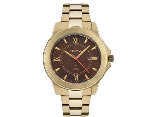 Relógio Technos Masculino Elegant Analógico Dourado F06111AA/4M