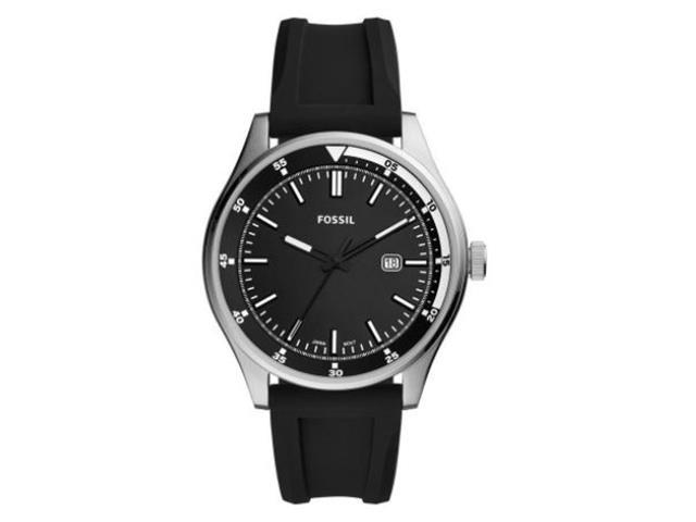 Relógio Fossil Belmar Masculino Prata Pulseira de Silicone FS5535/8KN