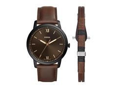 Relógio Fossil Minimalist Masculino Marrom com Pulseira FS5557SET/K0MN