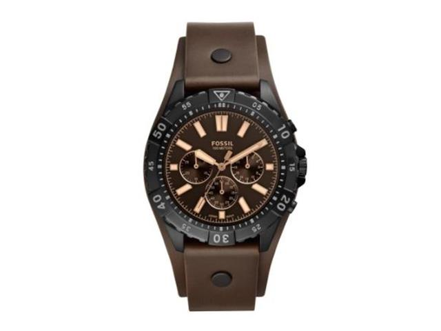 Relógio Fossil Masculino Garreta Preto e Marrom FS5626/0PN