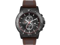 Relógio Technos Masculino Skymaster Preto Pulseira de Couro OS11EB/2P