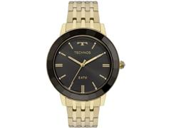 Relógio Feminino Technos Elegance Crystal Dourado e Preto VH31AAB/4P