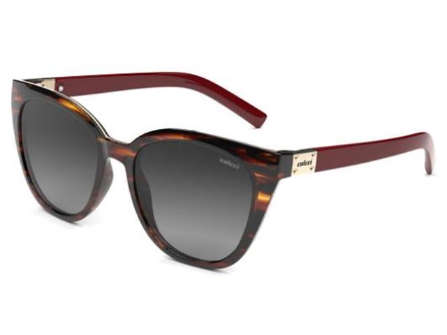 Óculos de Sol Colcci Jane Rajado Marrom com Vermelho