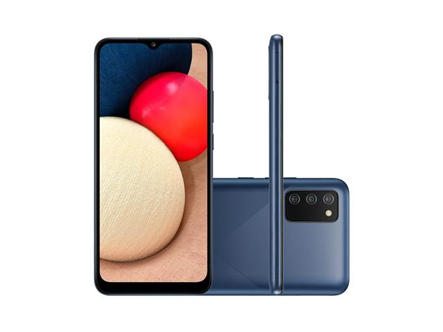 "Smartphone Samsung Galaxy A02s 32GB Tela 6.5""Câm Tripla 13+2+2MP Azul"