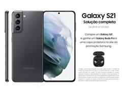 "Smartphone Samsung Galaxy S21 5G 128GB 6.2"" 8GB RAM 64+12+12MP Cinza - 0"