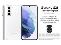 """Smartphone Samsung Galaxy S21 5G 128GB 6.2"""" 8GB RAM 64+12+12MP Branco"""