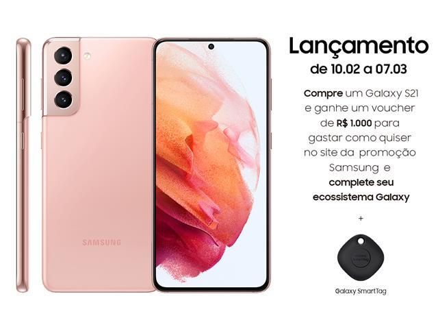 "Smartphone Samsung Galaxy S21 5G 128GB 6.2"" 8GB RAM 64+12+12MP Rosa"