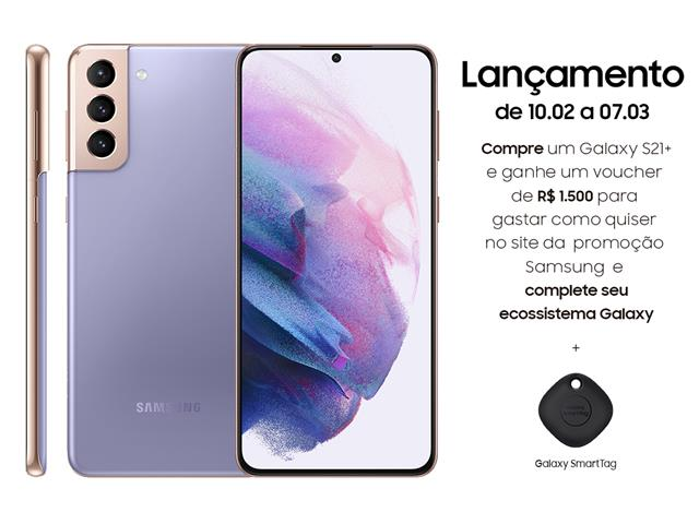 "Smartphone Samsung Galaxy S21+ 5G 128GB 6.7""8GB RAM 64+12+12MP Violeta"