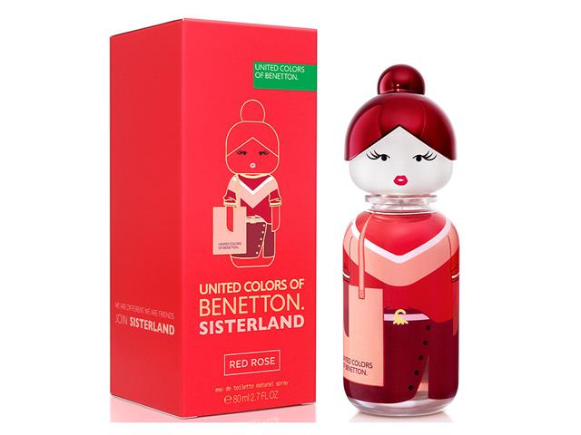 Perfume Benetton Sisterland Red Rose Eau de Toilette Feminino 80ML