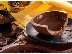 Combo 6 Ovos de Páscoa Havanna Choc Meio Amargo e Doce de Leite 400G - 4