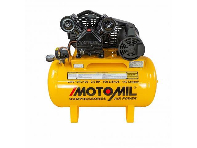 Compressor de Ar Motomil CMV-10Pl/100 Air Power 100 Litros Mono