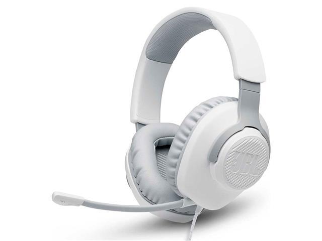 Headset Gamer JBL Quantum 100 Drivers 40mm Branco 28913225