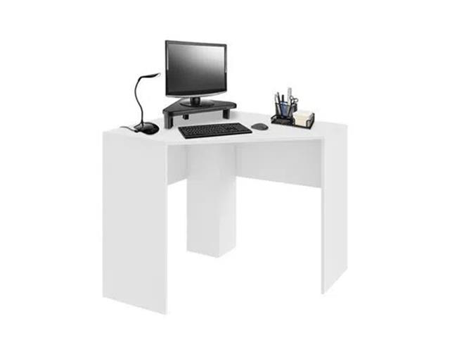 Mesa de Canto Multilaser EI076 para Computador 90x90cm Branco Fosco