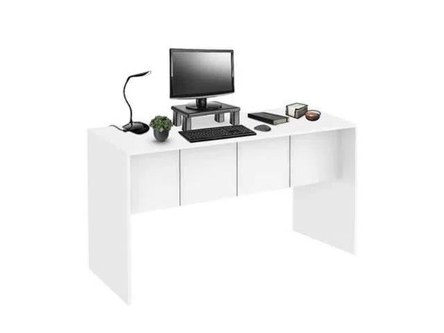 Mesa para Computador Multilaser EI075 Branco Fosco 136CM