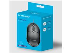 Mouse Multilaser MO300 Classic Box Óptico Full Black - 3