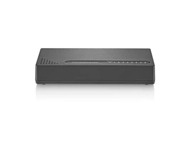 Switch com 8 Portas Multilaser RE118 função QoS e 10/100 Mbps Preto