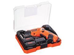 """Kit Parafusadeira a Bateria Black&Decker 1/4"""" com LED 15 Acessórios - 1"""
