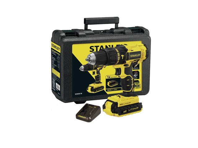 Parafusadeira Furadeira de Impacto Stanley Bateria 20V e Maleta Bivolt