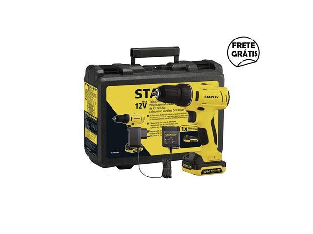 Parafusadeira Furadeira Stanley Bateria 12V Bivolt