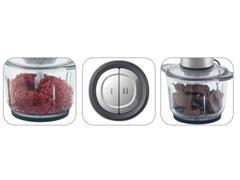 Miniprocessador Inox Black&Decker Gourmand Gris Tigela de Vidro - 1