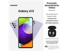 """Smartphone Samsung Galaxy A72 4G 128GB 6.7""""QuadCâm 64+12+8+5MP Violeta"""