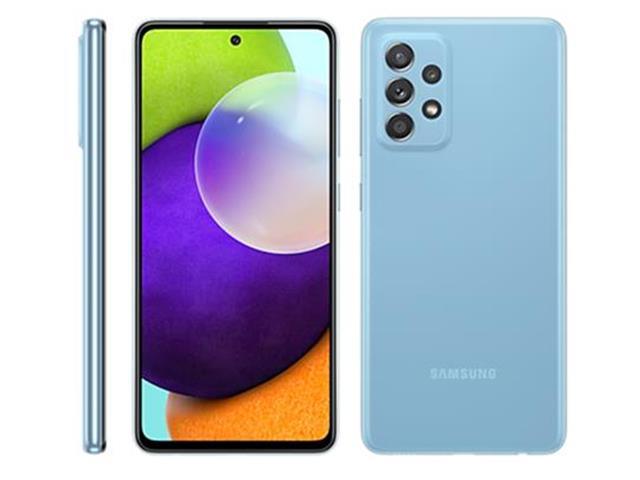 "Smartphone Samsung Galaxy A52 4G 128GB 6.5"" QuadCâm 64+12+5+5MP Azul"