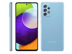 "Smartphone Samsung Galaxy A52 4G 128GB 6.5"" QuadCâm 64+12+5+5MP Azul"