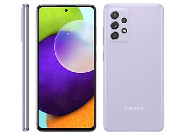 """Smartphone Samsung Galaxy A52 4G 128GB 6.5""""QuadCâm 64+12+5+5MP Violeta"""