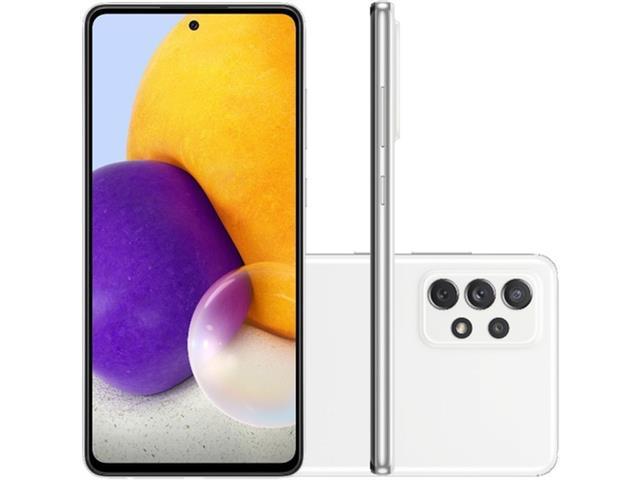 "Smartphone Samsung Galaxy A72 4G 128GB 6.7"" QuadCâm 64+12+8+5MP Branco"
