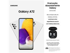 "Smartphone Samsung Galaxy A72 4G 128GB 6.7"" QuadCâm 64+12+8+5MP Branco"