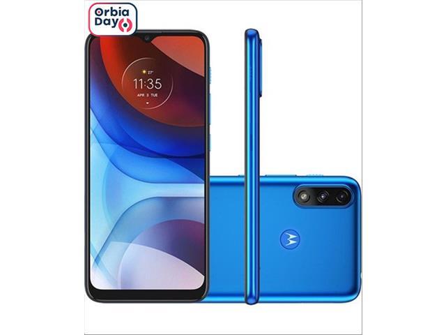 """Smartphone Motorola Moto E7 Power 32GB Tela 6.5"""" 4G Câm 13+2MP Azul"""