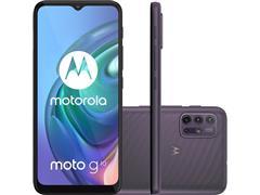 "Smartphone Motorola Moto G10 4G 64GB Tela 6.5""QuadCâm 48+8+2+2MP Cinza"