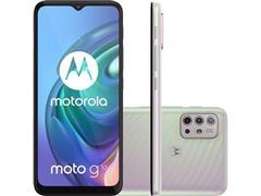 "Smartphone Motorola Moto G10 4G 64GB Tela6.5""QuadCâm 48+8+2+2MP Branco"