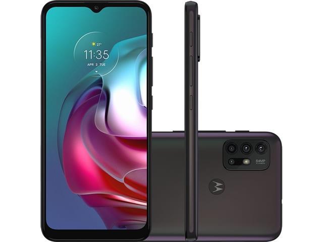 "Smartphone Motorola Moto G30 4G 128GB 6.5"" QuadCâm 64+8+2+2MP Preto"