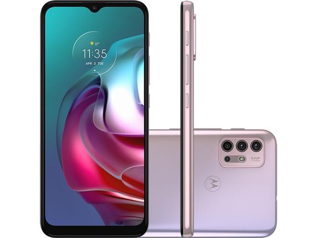 "Smartphone Motorola Moto G30 4G 128GB 6.5"" QuadCâm 64+8+2+2MP BR Lilás"