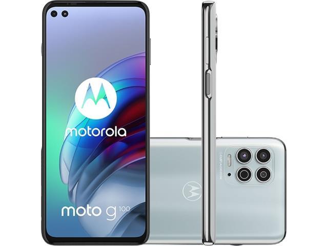 "Smartphone Motorola Moto G100 5G 256GB 6.7""QuadCâm 64+16+2MP+ToF Prata"